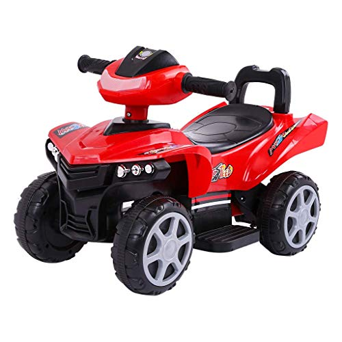 ApePal Children Electric Car【US Stock】 Ride-On ATV Four Wheel Beach Motorcycle,Kids Toddler Ride On Cars,LED Lights Sounds (Red)
