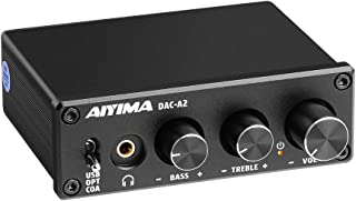 AIYIMA DAC-A2 DC5V Mini USB Zasilany DAC Audio dekoder pulpit wzmacniacz słuchawkowy AMP PC-USB/koncentryczny/optyczny na ...
