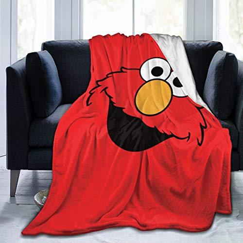"Ultra Soft Flannel Fleece Throw Blanket Elmo All Season Lightweight Living Room Bedroom Sofa Quilt 50""X40""for Kids"