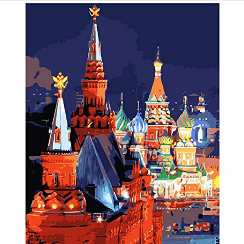 CCEEBDTO Puzzle 1000 Teile Landschaft Erwachsene Puzzle Holzpuzzle 3D Klassisches Puzzle Die Nacht In Der Moskauer Landschaft DIY Pädagogisches Puzzle Weihnachten Wohnkultur Geschenk 75X50Cm