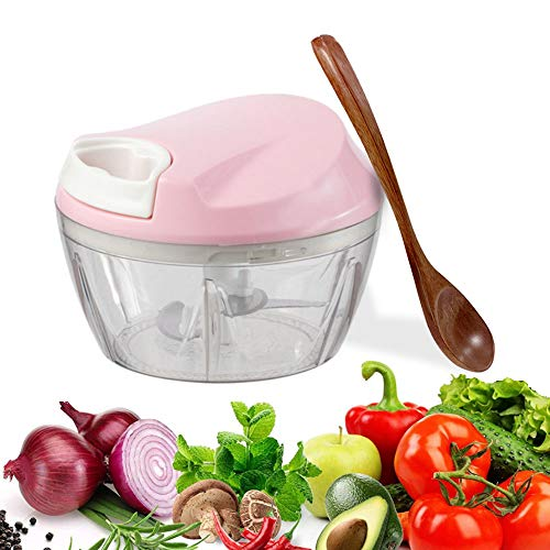 Zwiebel Zerkleiner,Handzug Gemüseschneider Home Manual Knoblauchschneider Multifunktionaler Zwiebelschneider Geeignet für Gemüse Obst Fleisch und Andere Lebensmittel