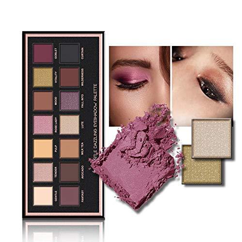 Ombretto, Professionale 14 Colori Ombretto Perla Opaco palette set di Trucco Cosmetico, Ombretti make up palette, Eyeshadow Palette Ombretti a Lunga Durata (14 colori)