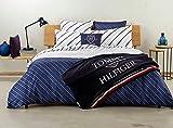 Bettwäsche-Set Double Face Tommy Hilfiger Bettwäsche-Set für Doppelbett, Satin, 2 Kissenbezüge, ohne Spannbettlaken (Country Club B1)