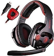 Gaming Headset PC Sades SA903 USB 7.1 Surround Sound Over Ear Gaming Kopfhörer Ohrhörer..