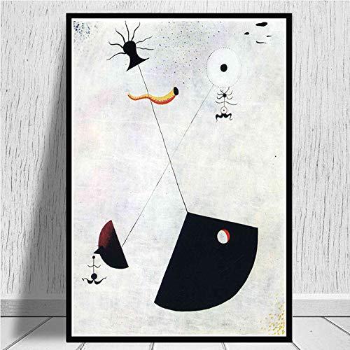ganlanshu Retro-Plakatwandkunst des Gemäldes der modernen Kunstmalerei für Hauptdekoration,Rahmenlose Malerei,60X90cm