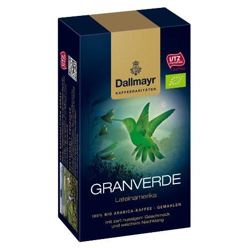 Dallmayr Granverde Lateinamerika, Kaffee Raritäten, Gemahlener Röstkaffee, Zart Nussig, 250 g