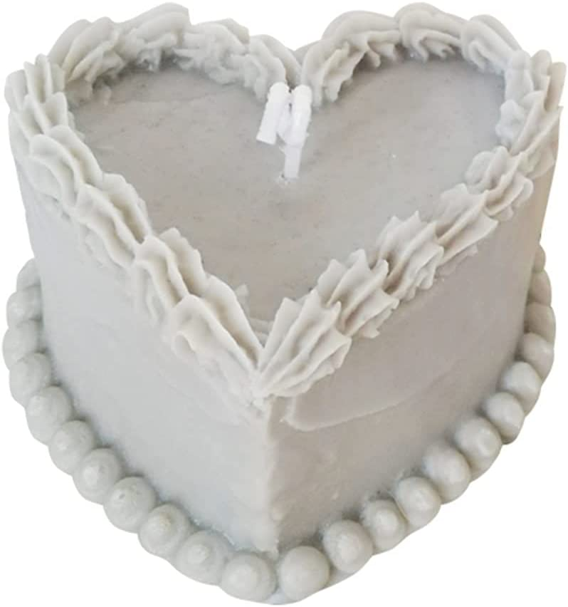 Heart Shaped Cake Shape Ranking TOP20 Silicone famous Handma Candle Mold 3D Household