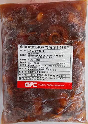 国産 ( 瀬戸内海産 ) 真蛸 旨煮 1.2kg ( 50本 ) たこの煮物 業務用 冷凍