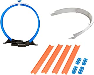 Hot Wheels Workshop Track Builder Loop, Curve, Straight Track Starter Kit (3 Pack)