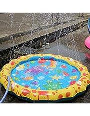 Vercico Lawn Beach Juego Agua Spray Pad Aspersor Piscina para niños Splash Actividades Cojín para rociadores al Aire Libre
