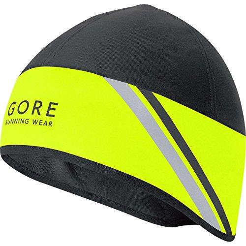 GORE WEAR Mütze Mythos 2.0 Windstopper Soft Shell Gorro, Hombre, Amarillo Neón/Negro, Talla Única