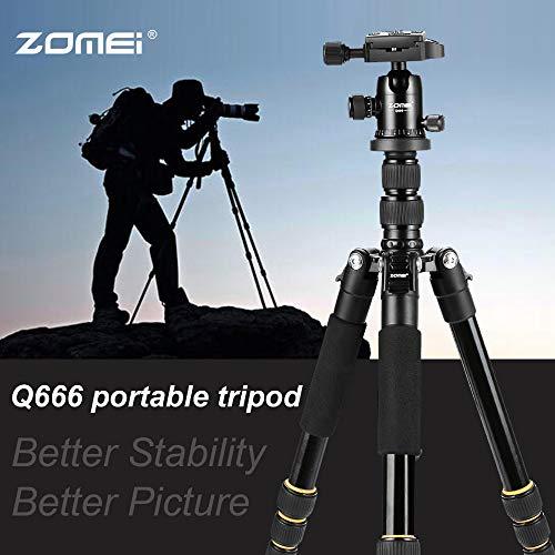 unbrand ZOMEI Q666 - Trípode para cámara réflex Digital réflex Digital (Ligero, portátil, Aluminio)