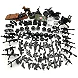 Military Weapons Pack Guns and Accessories for Minifigures Building Blocks Military Toys for Kids