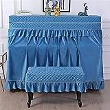 dfghbn copertura per pianoforte verticale classici universale pratica completa piano panno semiaperta parapolvere insieme a due pezzi con le feci di copertura (colore : blu, size : universal)