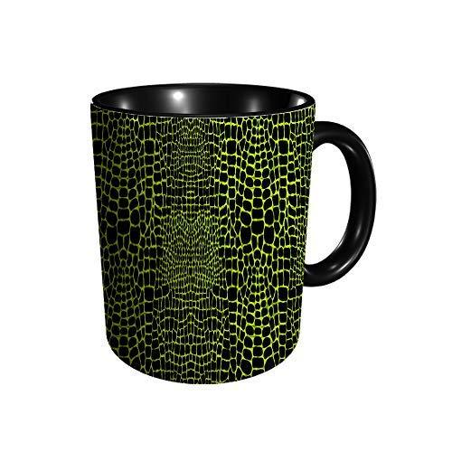 Hdadwy Mit Krokodil oder Alligatorhaut Animalistic Wallp Keramikbecher Kaffee Tee Geschenk Geschenk Weihnachten Weihnachten 11oz