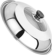 YARNOW Stainless Steel Lid - Lid for Pots with Adjustable Steam Vent | Fits All 11.8 Inch/30cm Lid for Pots, Pans and Skil...