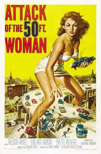 Red Rat Attack of 50 Foot Woman Poster 01 A3 Box Stampa su Tela