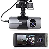 Grewtech 2.7' TFT LCD HD Dash-Cam DualCam Car DVR w/GPS Tracker + Google Maps + G-Sensor