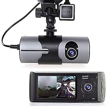 Grewtech 2.7  TFT LCD HD Dash-Cam DualCam Car DVR w/GPS Tracker + Google Maps + G-Sensor