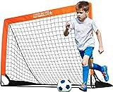 BAYINBULAK Portable Soccer Goal, Soccer Net for Kids Backyard Training 4'x3', 1 Pack (Orange)