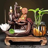 家庭用品絶妙な線香ベルガモットロータス線香バーナーサンダルウッド線香バーナー禅174(色:9)