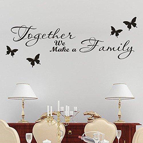 Topgrowth - Adhesivos de pared con diseño de mariposa, extraíbles, vinilo de pared para el hogar, decoración de la habitación