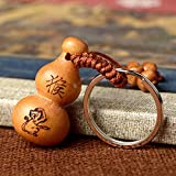 Chinese Feng Shui Wooden Gourd keychain...