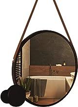Espelho Lavabo Redondo Adnet De Aluminio 50cm + Suporte Pino
