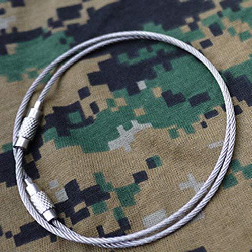 Camping en plein air Edc gear multifonctionnel câble métallique porte-clés et fil en acier inoxydable porte-clés Edc outil argent FRjasnyfall
