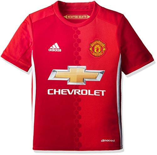 adidas H JSY Y Camiseta 1ª Equipación Manchester United 2015/16, Niños, Rojo/Blanco,...