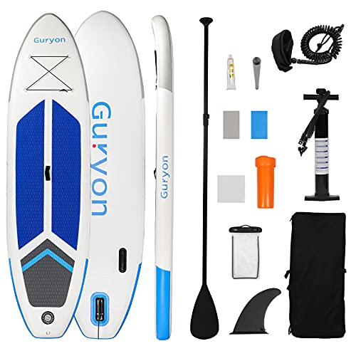 Guryon Inflatable Stand Up Paddle Board, Premium 10' x 30'' x 6'' iSUP for Adults Beginners Include...