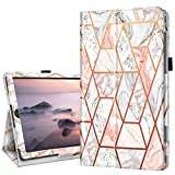 Fingic Galaxy Tab S6 Lite 10.4 ' Case with Pen Holder, Rose Gold Marble Slim PU Leather Trifold Stand Auto Sleep/Wake Folio Cover for 2020 Samsung Galaxy S6 Lite Tablet Model SM-P610/P615, Rose Gold