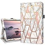 Fingic - Funda para Samsung Galaxy Tab S6 Lite 2020 (SM-P610N, SM-P615), Samsung Tab S6 Lite 10.4 (piel sintética, función atril), diseño de mármol, color rosa
