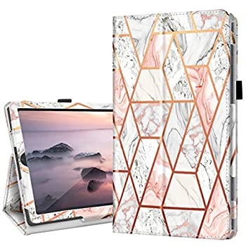 Fingic Galaxy Tab S6 Lite 10.4   Case with Pen Holder Rose Gold Marble Slim PU Leather Trifold Stand Auto Sleep/Wake Folio Cover for 2020 Samsung Galaxy S6 Lite Tablet Model SM-P610/P615 Rose Gold