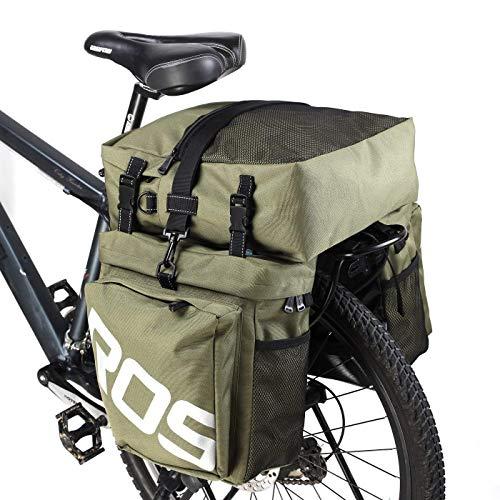 ROSWHEEL 自転車サイドバッグ ユニセックス カーキ 14892