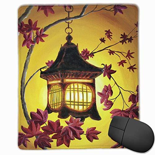 GamingMousePad,personalisiertebenutzerdefinierteMausPadnon-SlipGummiGamingMousePad,bleibenSiepositiv,arbeitenSiehartundlassenSieesgeschehenLaterne-in-Golden-Glow-