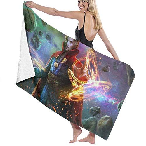 Avengers-Doctor- Toalla de Playa para Piscina extraña Toallas de baño de Microfibra Toalla de Secado rápido Manta para Piscina de Viaje