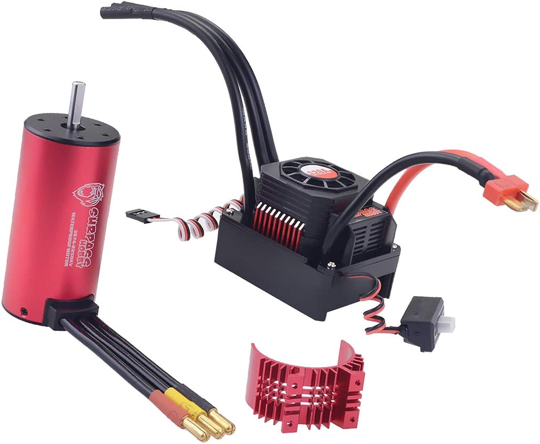 FLAMEER 3674 2350kv Brushless Motor ,Waterproof and ESC 120A ,Heatsink Cover 1 10 1 8 RC