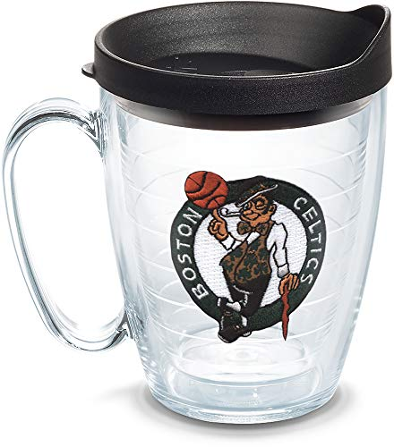 Tervis NBA Boston Celtics Primary Logo Tumbler with Emblem and Black Lid 16oz Mug, Clear