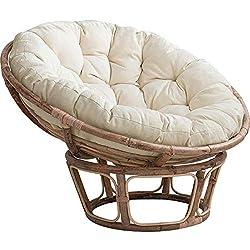 small Zairmb Round Chic Chair Cushion Papa Sun Hanging Basket Chair Cushion Rattan Soft Quilting…