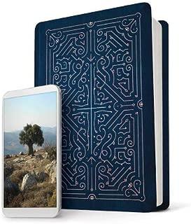 Filament Bible NLT (LeatherLike, Navy/Rose Gold): The Print+Digital Bible
