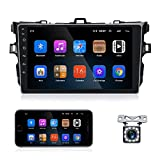 Android 10.1 Car Stereo Double Din GPS Navigation Stereo Car Radio with Bluetooth HD 9'' Touch Screen FM, Backup Camera 2G 32G WiFi Car Multimedia Player for Toyota Corolla 2009-2012 by Carmektron