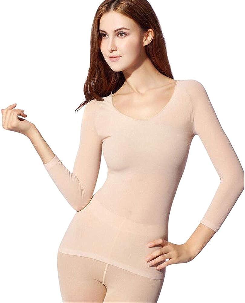 MAYouth Thermal Underwear for Women, Underwear Women Tops & Pants Winter Seamless Thermal Long Johns Set