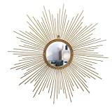 LZQBD Mirrors,Decorative Starburst Mirror,Bathroom Mirrors Metal Wall Hanging Mirror for Living Room, Bedroom, and Entryway/60Cm
