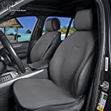 Sojoy Summer Cooling Four Seasons Car Seat Cushions for Front Two Seats Comes with 2 Pieces - Honeycomb Cloth (Carbon Black)