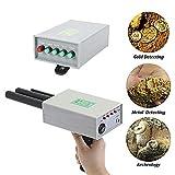 Küchenks Detector de Metales de Doble sonda con transmisor de Antena Detector de Oro 12V 360-440Hz Detector de Metales 5.6-6kHz