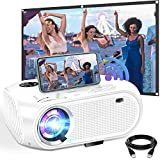 WiFi Projector, Weton 2021 Upgraded 5500 Lumens Portable Mini Projector for iphone,Full HD1080P Supported Wireless Movie Projector, Home Video Projector Compatible with Smartphones/TV Stick/PS4/TV Box