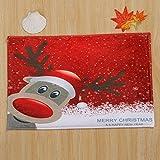 DeepLovly Weihnachten Advent Dekoration Bedruckte Bodenmatte 40 * 60 cm Hausdeko Badezimmer...
