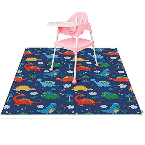IEUUMLER Splash Mat Seggiolone Seggiolone Copri Materasso Lavabile stuoie di Splat per bambini IE095 (Dinosaur 140cm)