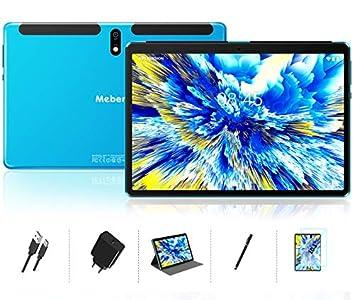 Tablet 10 Pulgadas Android 10.0 - Ultrar-Rápido Tableta 4GB RAM+64GB ROM - Certificación Google gsm - Ocho-Núcleos|8000mAh|WI-FI|Bluetooth|GPS|Type-C (5.0+8.0 MP Cámara) -Bleu